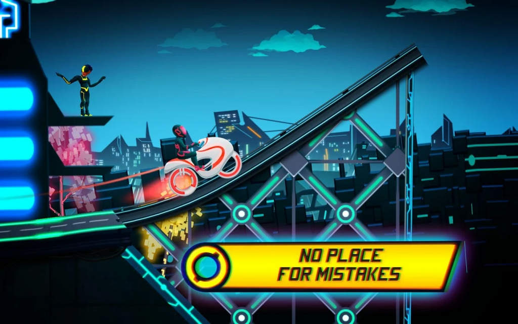 Bike Race Game Traffic Rider Of Neon City Mod