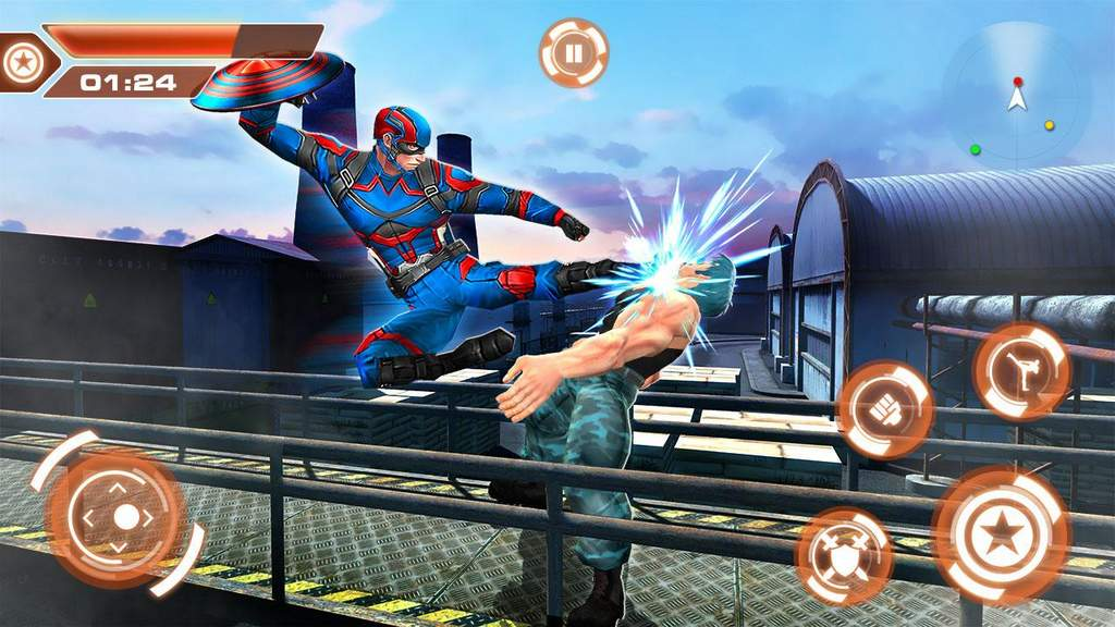 Superhero Captain City America Rescue Mission Apk