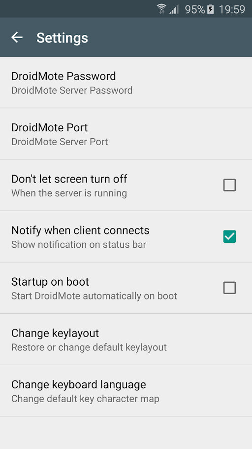 DroidMote Server