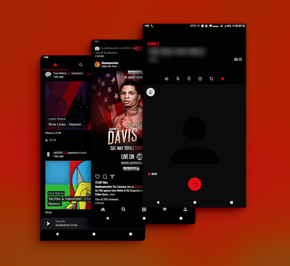 Pitch Black Theme Apk