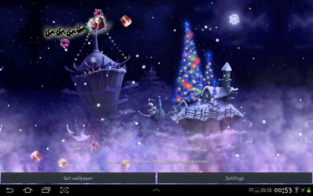 Christmas Snow Fantasy Live Wallpaper Full Apk v1.28 Full