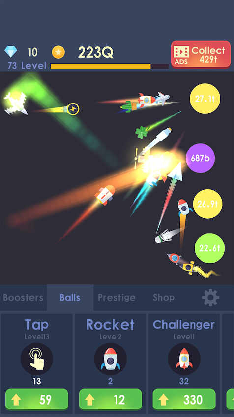 Idle Rocket - Aircraft Evolution & Space Battle Apk