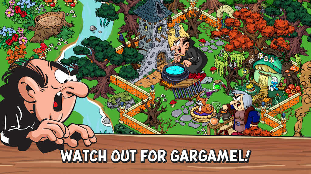 download smurf village mod apk offline