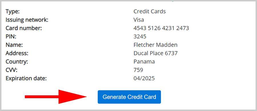 Credit Card Generator and Unlock premium Games